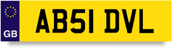 The dvla Euro plate