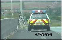 ANPR roadside unit, Twin system, in this case it was being used on the A38 Nr. Burton upon Trent    Copyright © Steve Warren